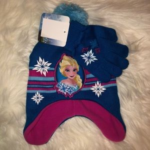 Disney Frozen Winter Hat/Glove Set